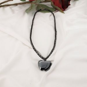 Dark Rose Boutique Jewelry - Black Hematite Necklace, Various pendants